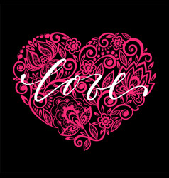 i love you hand drawn calligraphy and brush pen vector image