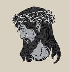 Jesus Christ Face vector image
