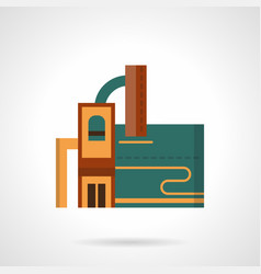 recycling factory flat color icon vector image vector image