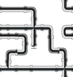 Seamless metal pipe pattern vector image vector image