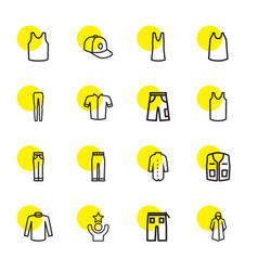 16 casual icons vector image
