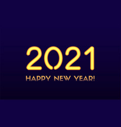 2021 happy new year greeting card vector