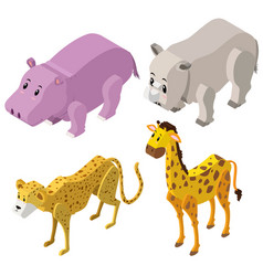 3d design for different types of animals vector image