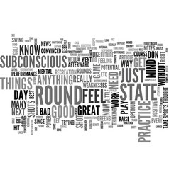 a feel for your golf game text word cloud concept vector image