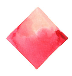 Abstract pink and red square watercolor banner vector