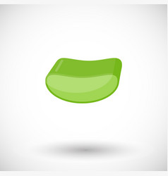 aloe slice flat icon vector image