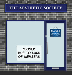 Apathetic society closed vector
