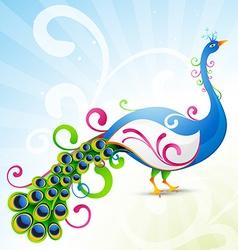 artistic peacock vector image