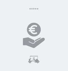 Bank services - euro - minimal modern icon vector