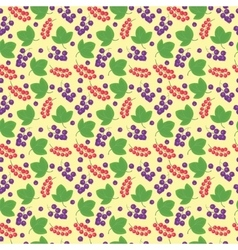 Berries currant seamless patterns vector