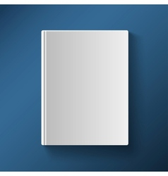 Blank book cover gradient mesh vector