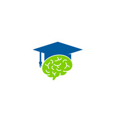 brain education logo icon design vector image