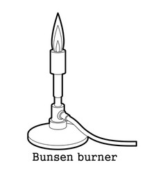 Bunsen burner icon outline vector