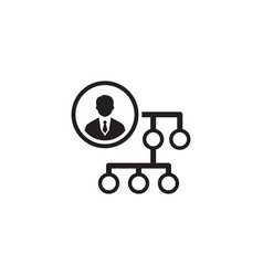 Business connections icon flat design vector