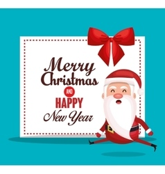Card santa merry christmas design vector