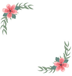 card with frame of flowers for dedication vector image