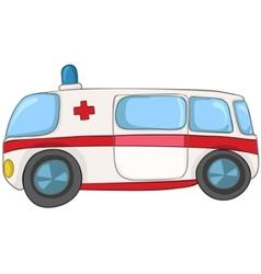 Cartoon emergency car vector