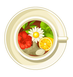 Ceramic cup with different tastes vector