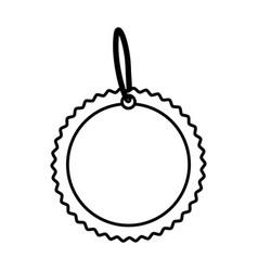 Circular tag icon image vector