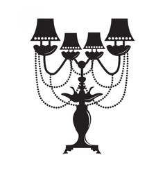 Classic Baroque lamp vector