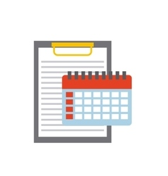clipboard document with business icon vector image