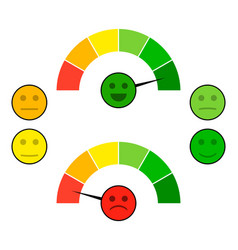 color indicator arrow with face mood vector image