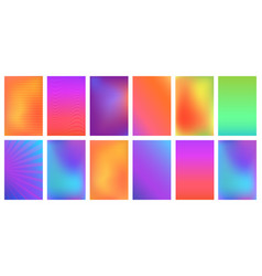 Creative bright vivid gradient set for any vector