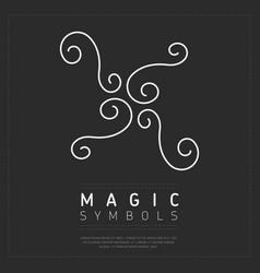 Curvy element magic sign vector