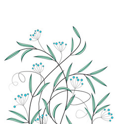 Decoration of flowers vector