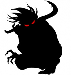 devil vector image