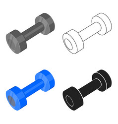 Dumbbells icon cartoon single sport icon from the vector