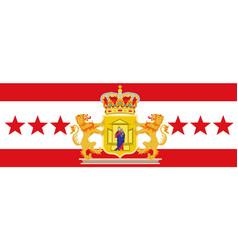 flag of drenthe of netherlands vector image