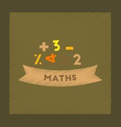 flat shading style icon math lesson vector image