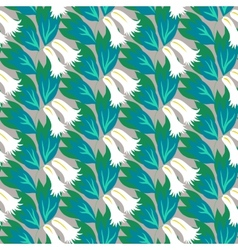 Floral seamless pattern with bell flowers vector