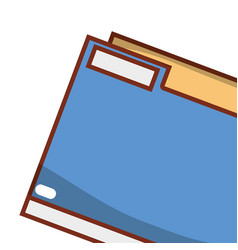 folder with documents cartoon vector image