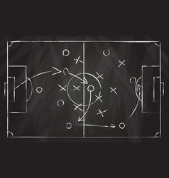 football tactic scheme soccer game strategy with vector image