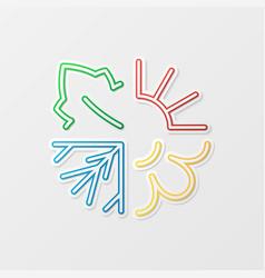 Four seasons symbols vector