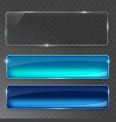 glass plates set glass banners on vector image