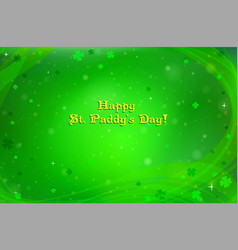 green background for st patricks day vector image