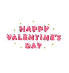 Happy valentines day inscription with glitter vector