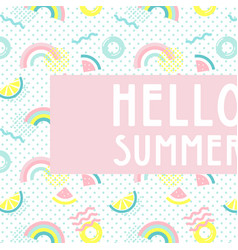 hello summer abstract card summer funny wallpaper vector image