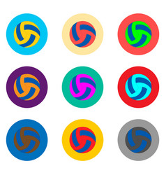 Icon logo for set balls for playing vector