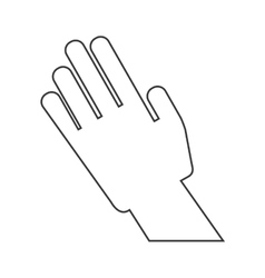 isolated hand design human body concept vector image