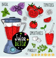 Juice detox set vector