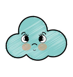 Kawaii cute teder cloud weather vector