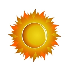 Large aggressive orange sun vector image