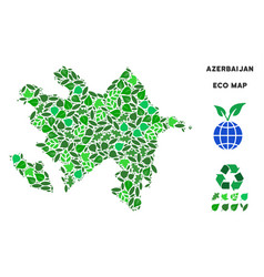 leaf green mosaic azerbaijan map vector image