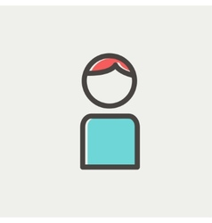Male thin line icon vector image