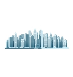 Modern city with skyscrapers Construction vector image