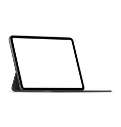 Modern tablet computer stand with blank screen vector